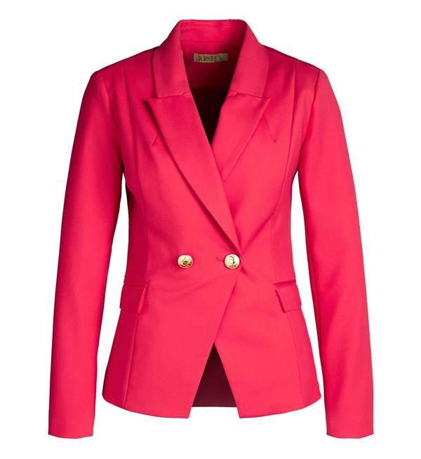 Josh V Zoya Blazer. Dress smart! En niet alleen op kantoor. Blazers zijn helemaal trendy. Het jasje heeft kenmerkende Josh V knopen en een subtiel doorlopende revers. Getailleerd model, geheel voorzien van voering.