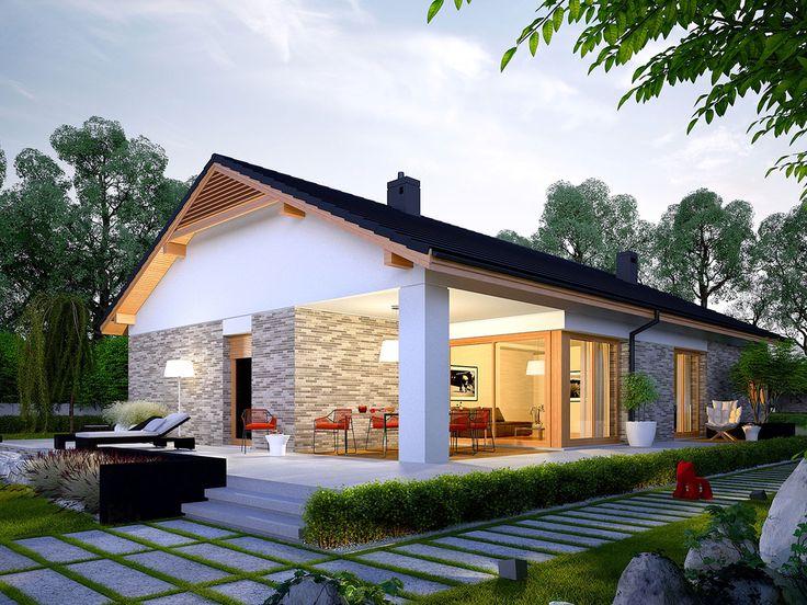 DOM.PL™ - Projekt domu AC Daniel G2 CE - DOM AF8-27 - gotowy projekt domu