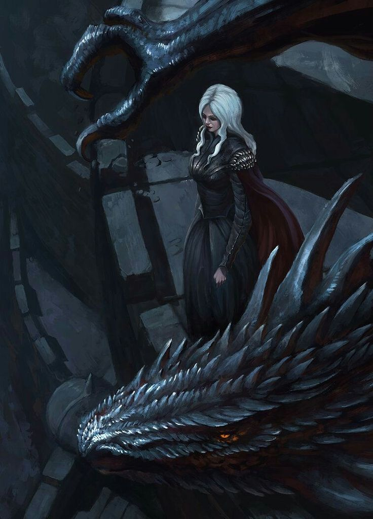 It looks like Dany in GoT but let's just pretend it's Manon and Abraxos