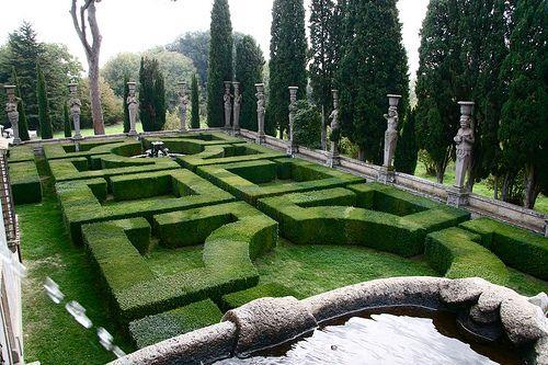 Villa Farnese Garden from stairs