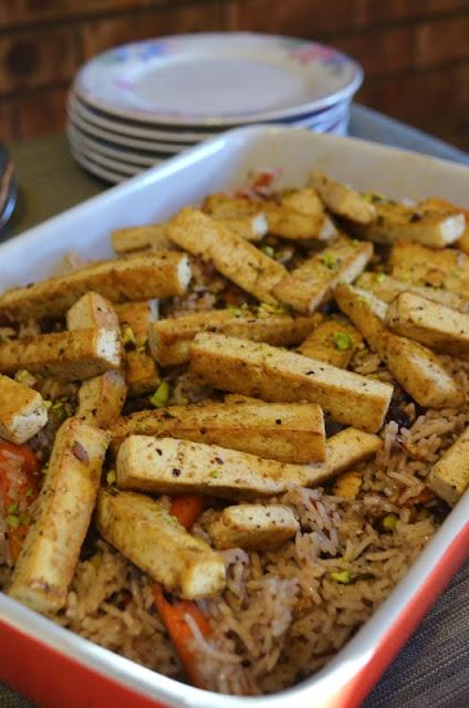 Gormandize: Spicy Tofu Palau (Afghanistan's National Dish - Vegan style!)