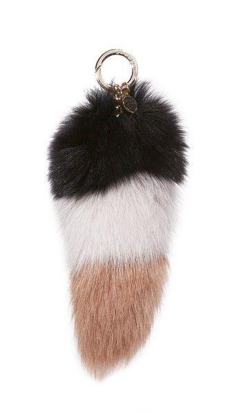 Jocelyn Colorblock Fox Tail Bag Charm