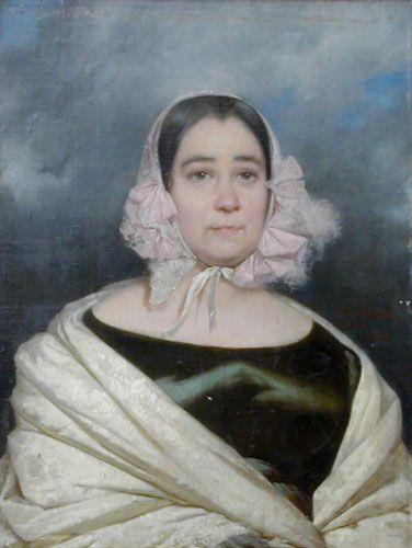 DOÑA ROSA TADEA REYES SANAVIA DE GARCÍA, 1843 Óleo sobre tela 72 x 54 cm Museo Nacional de Bellas Artes, Santiago, Chile
