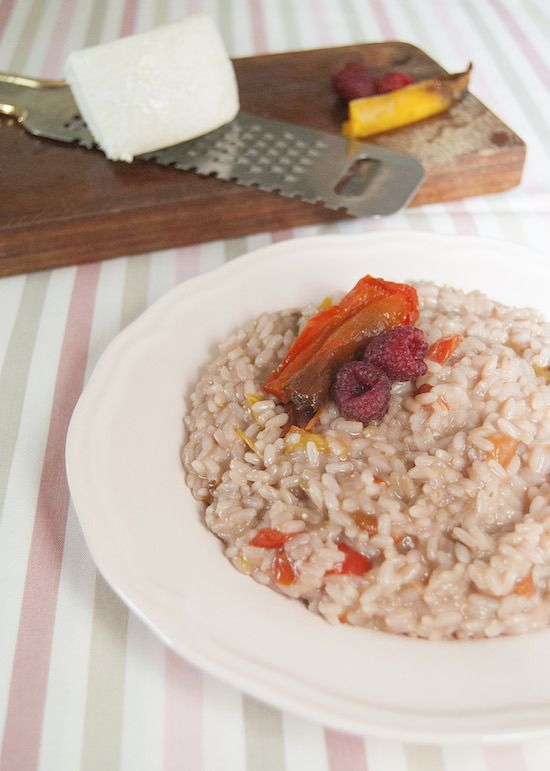 Risotto con lamponi, peperoni e zenzero - Risotto with raspberries, peppers and ginger