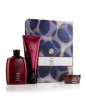Oribe Beautiful Color Shampoo 8.5oz & Conditioner 6.8 oz and Masque 1.7 oz Combo Set Collection by Oribe. $89.99. Beautiful Color Conditioner 6.8 Oz.. Masque for Beautiful Color 1.7 Oz.. Beautiful Color Shampoo 8.5 Oz.. The Oribe Beautiful Color Collection Holiday Box Set-for those who like to play with colors. Add life and shine to your hair with the latest color-maintenance technology. Intense cuticle-enriching conditioners, color-protecting UV filters, and next-generation...