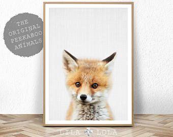 Bébé renard imprimer, Woodlands Nursery décor, bébé Animal affiche, numérique Télécharger, grande Photo Printable Poster, minimaliste, les bébés chambre Fox Art