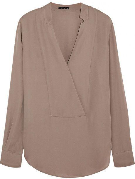 Theory Corbette silk-georgette blouse