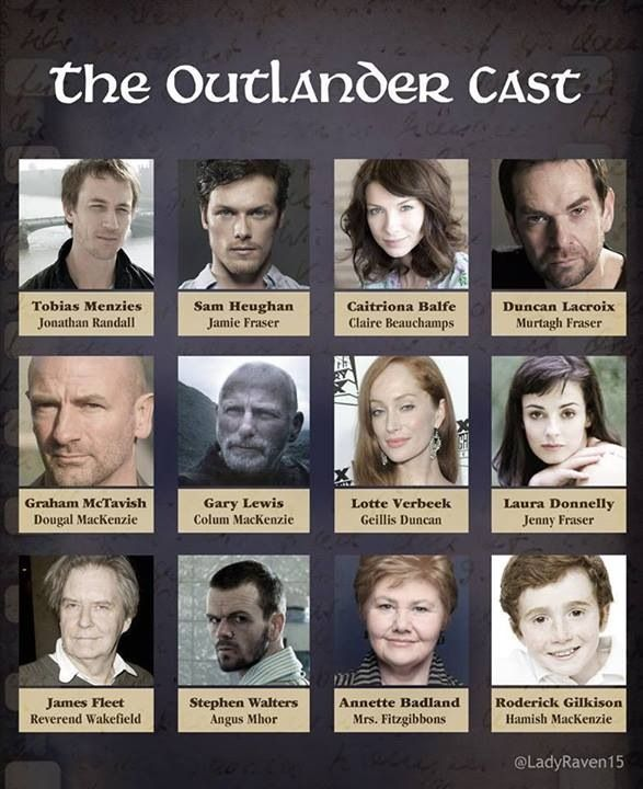 Outlander cast (As of 22nd Oct. 13)