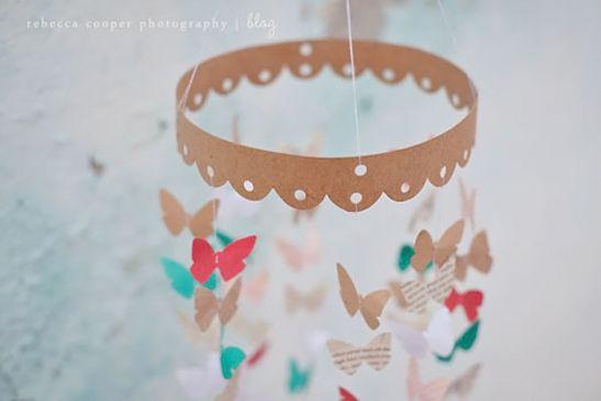 DiY : un mobile papillons