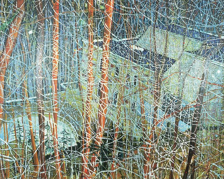 Peter Doig.  The Architects Home In The Ravine.  1991.