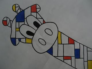 Dieren in de stijl van Piet Mondriaan