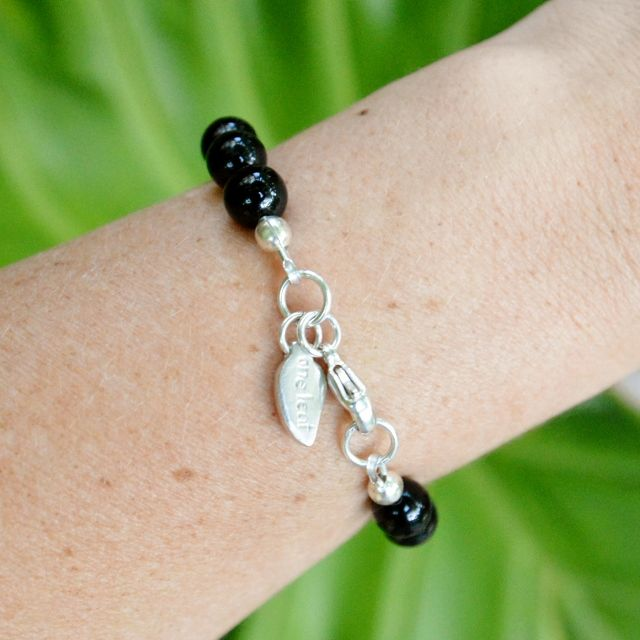Shop the Midnight Chic Bracelet. Custom made to fit. Onyx Gemstones with Sterling Silver