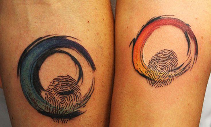 Tatuajes de huella dactilar, un bonito homenaje y compromiso - http://www.tatuantes.com/tatuajes-de-huella-dactilar/