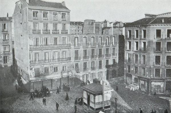 Plaza de Callao en 1911, en Madrid