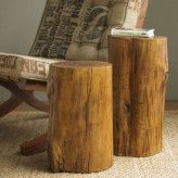 Fallen Wood Accent Stump Tables