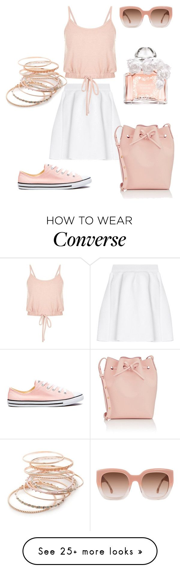 """""""Untitled #517"""" by angelina-vanessa on Polyvore featuring malo, Mansur Gavriel, Guerlain, Alice + Olivia, Converse and Red Camel"""