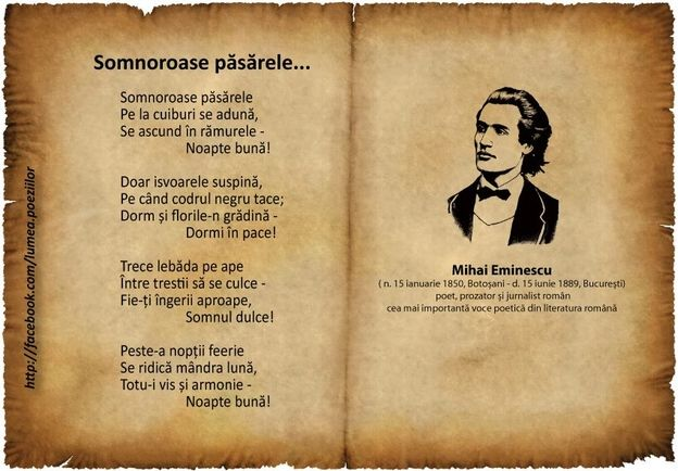 Poezii ....de suflet !  Eminescu