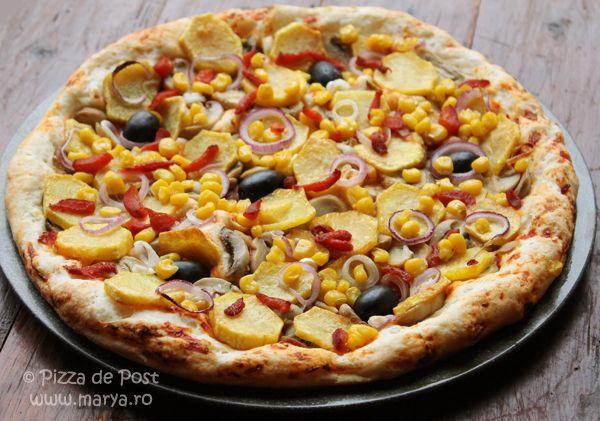 Pizza de post perfecta pentru o zi de post.