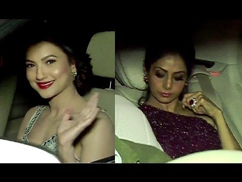 Sridevi & Gauhar Khan at pre party of 62nd Jio Filmfare Awards 2017.
