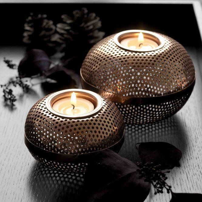 norsu interiors - Louise Roe copper metal candleholder - medium, $45.00