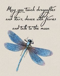 ♪♫♥ May you touch dragonflies and stars, dance with fairies, and talk to the Moon. ♥Ƹ̵̡Ӝ̵̨̄Ʒ♥