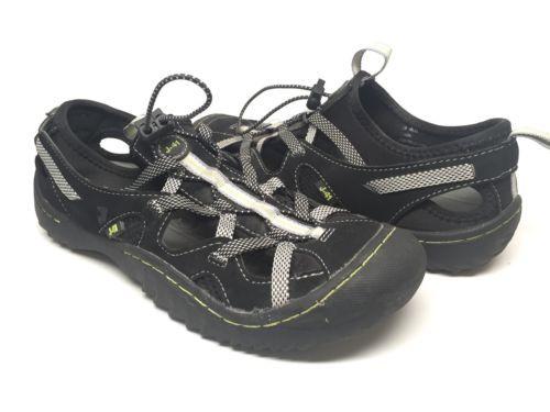 J-41-aventura-em-partes-Feminino-6-5M-Preto-Vegan-agua-Sandalias-Sapatos-Trilha-Pronto