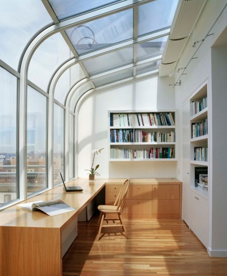 24 best Arbeitszimmer images on Pinterest Attic spaces, Roof - home office mit dachfenster ideen bilder