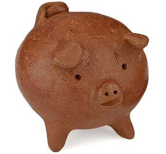 This adorable handmade clay pig is a meaningful symbol in Chile's vibrant culture, where tradition holds that three-legged pigs bring good luck to their owners.