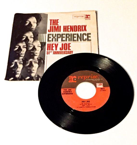 JIMI HENDRIX Hey Joe  Vinyl Record and Sleeve 45 by justvintage4u