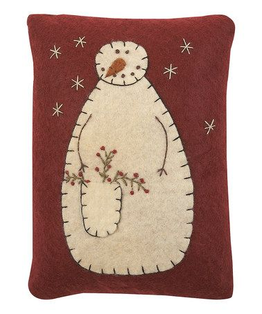 Take a look at this Red & Cream Snowman Pillow by Collins Christmas on #zulily today!