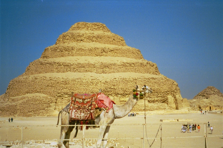 Sakkara, Egypt:  The Stepped Pyramid of Djoser built by Imhotep