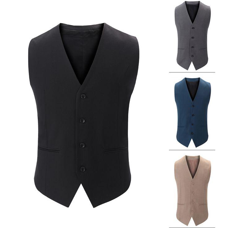 2016 men suit vest  formal top male  Bussiness Suit Vest Men Hombre custom made vest man plus size good quality //Price: $30.78 & FREE Shipping //     #hashtag3