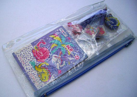Blue Dragon Pencil Pouch. 80s Flomo Pencil Case. by JirjiMirji, €16.90