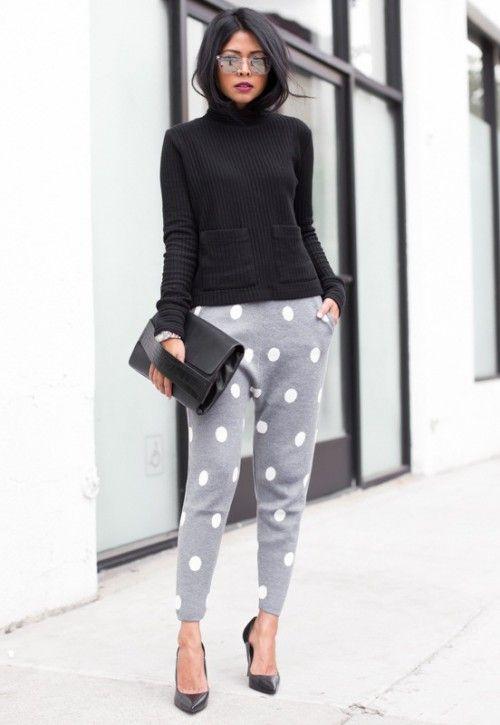 черная водолазка-лапша, стильные брюки, модные вещи весна лето, вязаная мода весна лето 2015, модные тренды весна лето 2015, уличная мода весна лето, street style, MsKnitwear, Knitwear (фото 2)