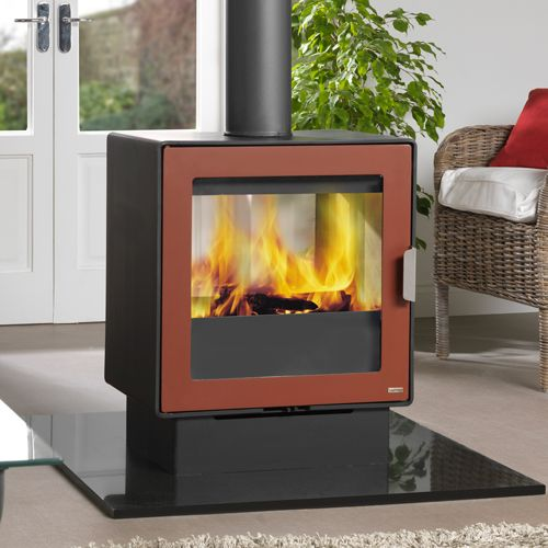 Stove red and wood burning on pinterest for Double sided fireplace price