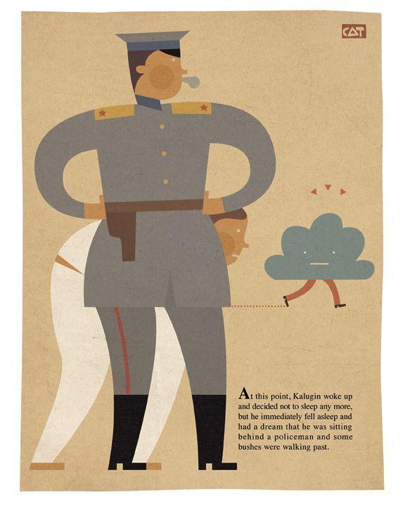 Mircea Catusanu. Illustration for: Daniil Kharms. Short Stories.
