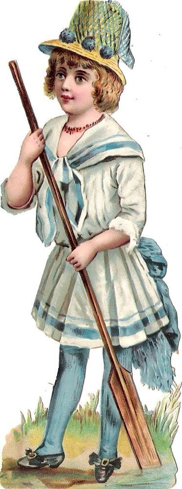 Oblaten Glanzbild scrap diecut chromo Kind child 14,8cm lady girl marin fille
