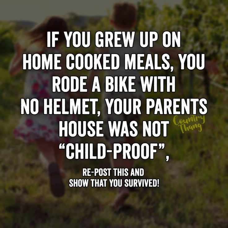 """If you grew up on home cooked meals, you rode a bike with no helmet, your parents house was not """"child proof"""", Re-post this and show that you survived #childhooddays #countrylife #lifefactquotes #countrythang #countrythangquotes #countryquotes #countrysayings"""