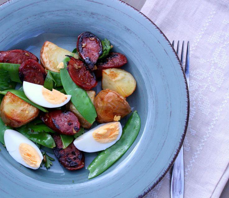 Chorizo egg and potato salad