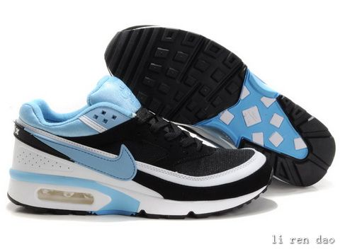 100% authentic 86bc2 73c9e ... Guaranteed Mens Nike - Air Max 91 Classic BW Sky blue Black White