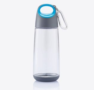 Printed Bopp Mini Drinks Bottle With Carabiner Clip. 350ml.