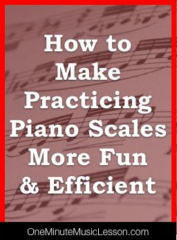 Practicing Piano Scales