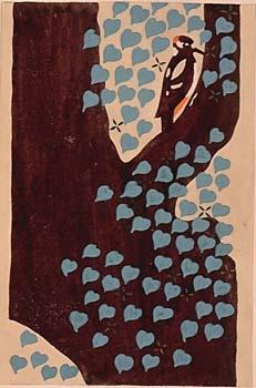 杉浦非水Sugiura 刻花鳥, Prints Patterns Textiles, Posters Illustration, Drawing Cut Glued, Hisui Sugiura, Prior Pinners, 杉浦非水 Hisui, Art Illustration