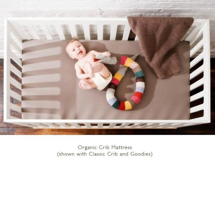 Pure & Simple Organic & Natural Crib Mattress by Scandis This organic crib mattress is comfortable and healthy, providing excellent support with all-natural materials.
