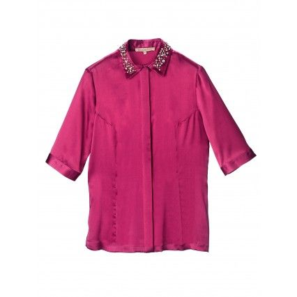 BLOUSE WITH EMBROIDERED COLLAR #fashion #lautrechose #FW2013 #trend