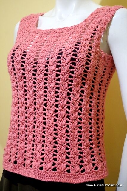 Beginner Crochet Top Patterns Free : 1000+ ideas about Crochet Summer Tops on Pinterest ...