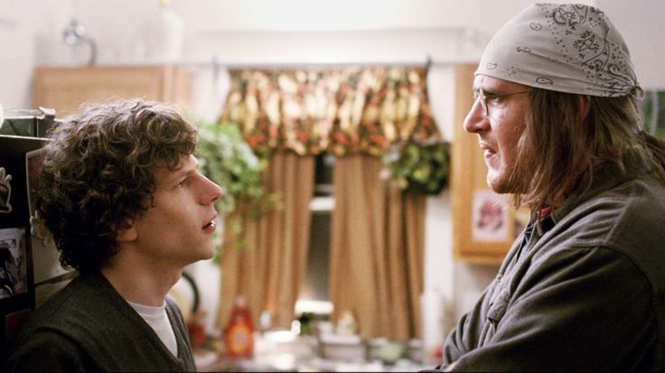 Jesse Eisenberg and Jason Segel play David Lipsky and David Foster Wallace in The End of the Tour.