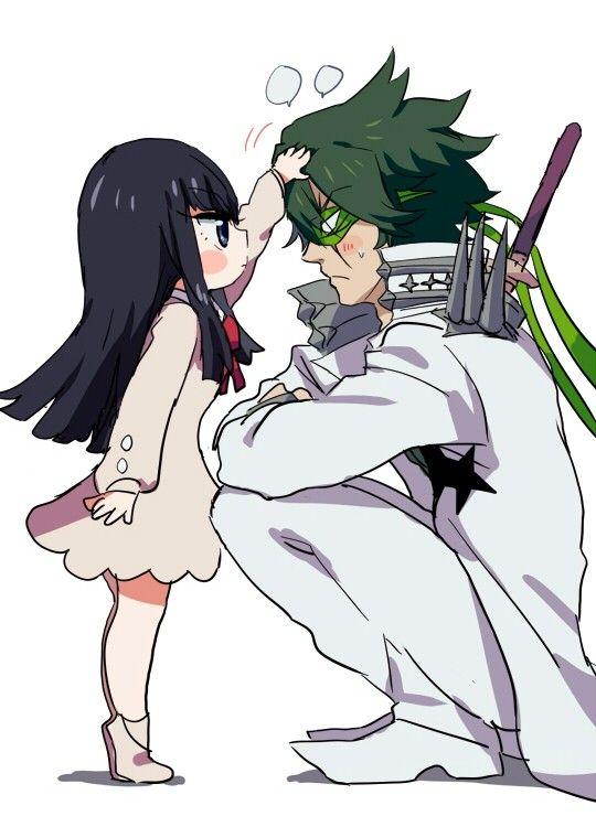 satsuki x uzu anime kill la kill pinterest
