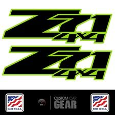 Green / Yellow Z71 4X4 Decals Stickers Chevy 2007 2008 2009 2010 2011 2012 2013