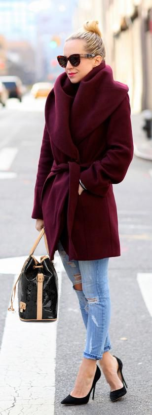 big collar coat